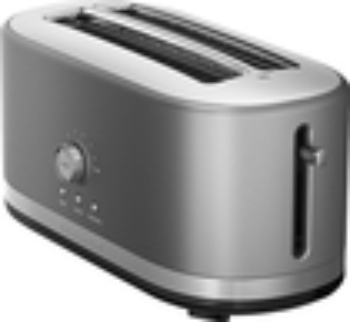 KitchenAid - 4-Slice Wide-Slot Toaster - Contour Silver