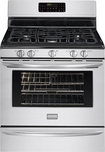 """Frigidaire - Gallery 30"""" Self-Cleaning Freestanding Gas Convection Range - Stainless-Steel"""