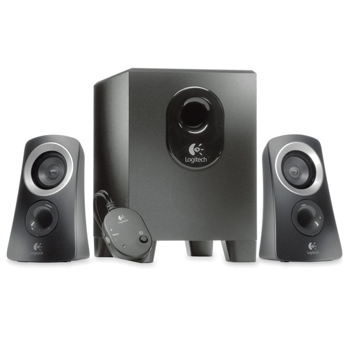 Logitech - Z313 Multimedia Speaker System - Black