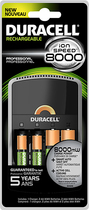 Duracell - NiMH AA/AAA Battery Charger - Black