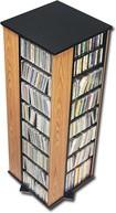 Ashlin - 4-Sided Spinning Storage Tower - Oak/Black (Brown/Black)