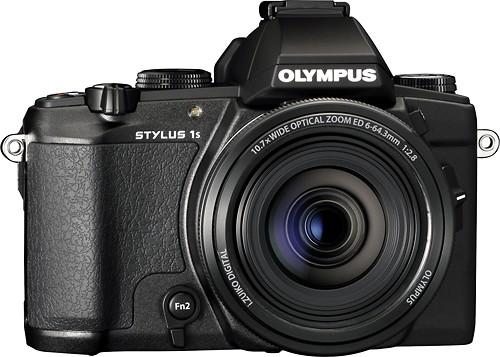 Olympus - Stylus 1s 12.0-Megapixel Digital Camera - Black