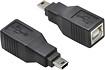 Hosa Technology - Type-B-to-Mini-B USB 2.0 Adapter - Black