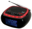 First Alert - AM/FM Weather Band Clock Radio - Red/Black