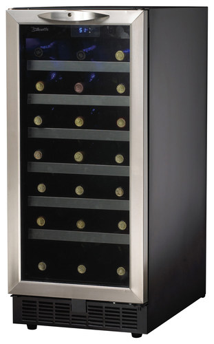 Danby - Silhouette 34-Bottle Wine Cellar - Black