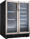 Danby - Silhouette 5.0 Cu. Ft. Beverage Center - Black/Stainless-Steel