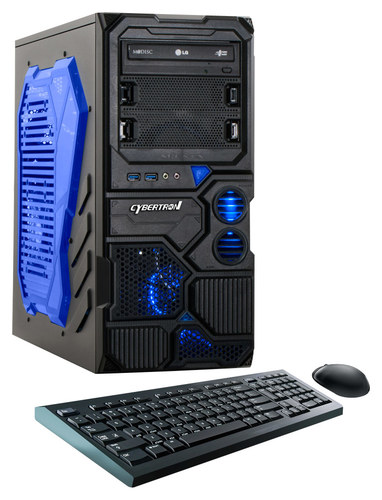 CybertronPC - Borg-DS9 Desktop - AMD FX-Series - 8GB Memory - 1TB Hard Drive - Black/Blue