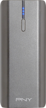 PNY - Power Pack 4400 Rechargeable External Battery - Silver