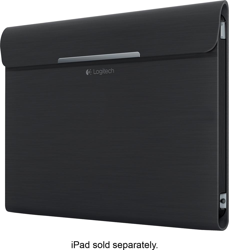 Logitech - Turnaround Versatile Rotating Case for Apple® iPad® Air 2 - Intense Black