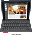 Logitech - Type+ Bluetooth Keyboard Case for Apple® iPad® Air 2 - Dark Blue