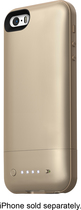 mophie - Space Pack 16GB External Battery Case for Apple® iPhone® 5 and 5s - Gold