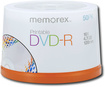 Memorex - 50-Pack 16x Printable DVD-R Disc Spindle