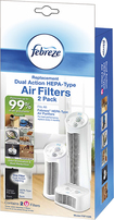 Febreze - Febreze Hepa-type Air Purifier Filters  - White