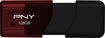 PNY - Turbo Plus 128GB USB 3.0 Flash Drive - Black/Red