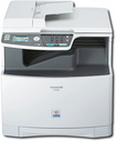 Panasonic - Network-Ready Multifunction Printer/ Copier/ Scanner/ Fax - White