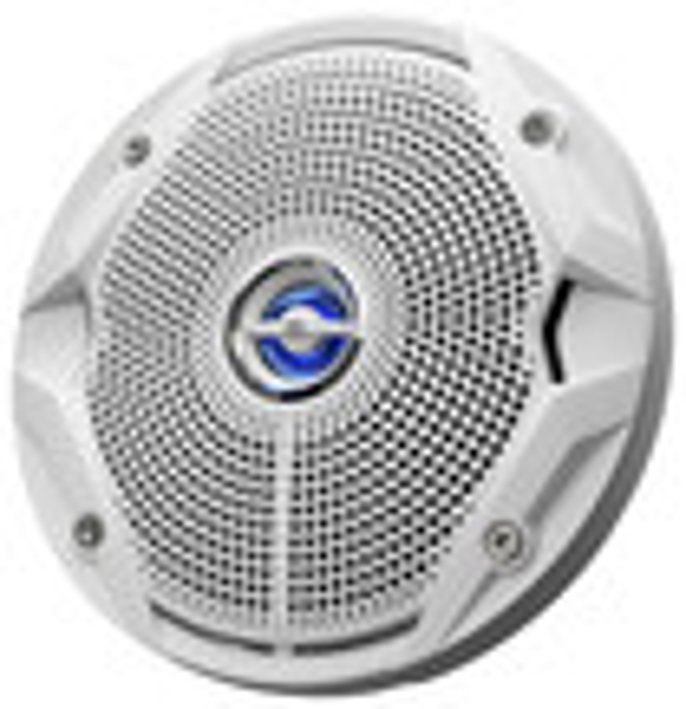 "JBL - 6-1/2"" 2-Way Marine Speakers with Plus One Polypropylene Cones (Pair) - White"