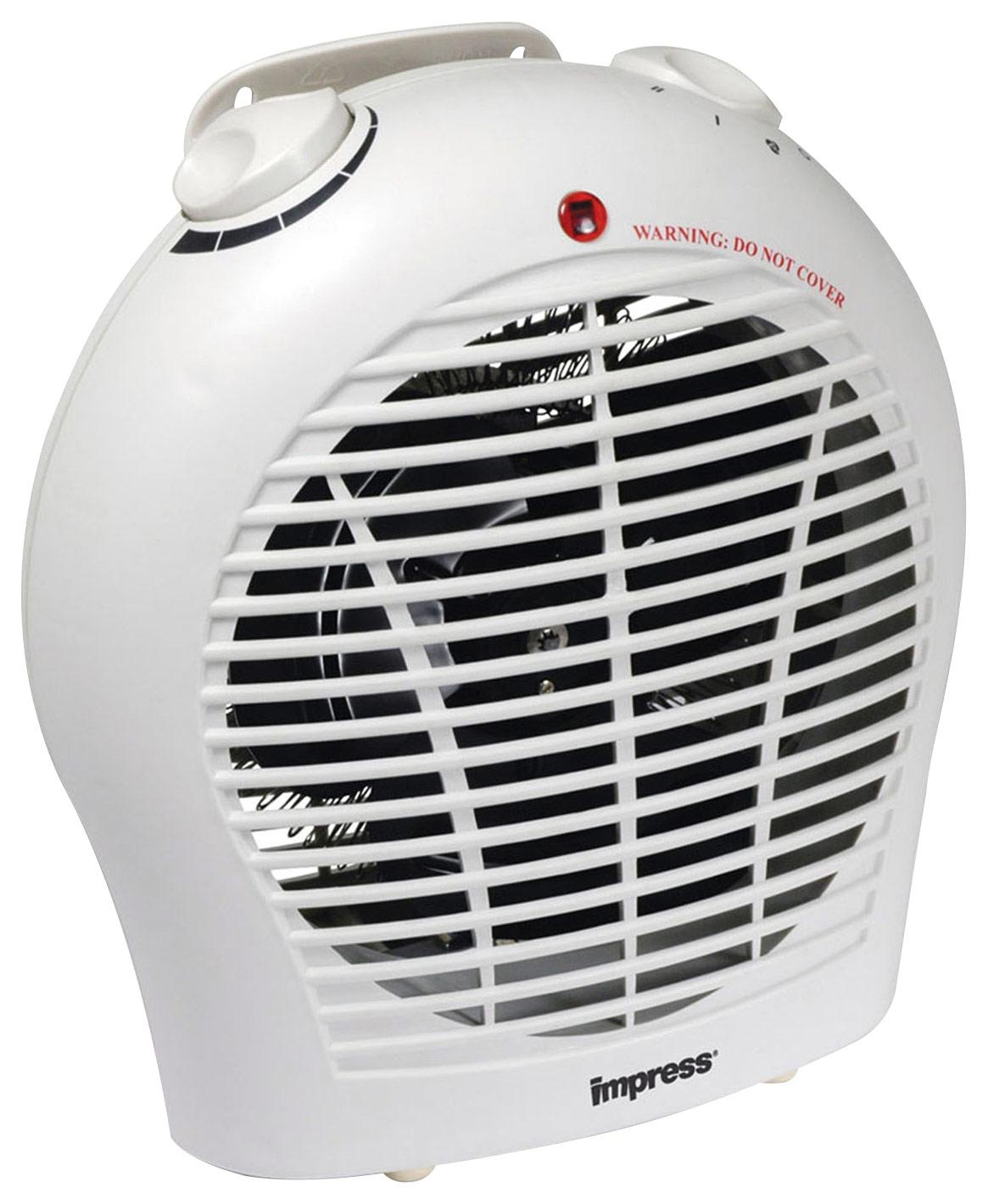 Impress - Electric Fan Heater - White