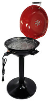 """Better Chef - 15"""" Electric Barbecue Grill - Red/black"""