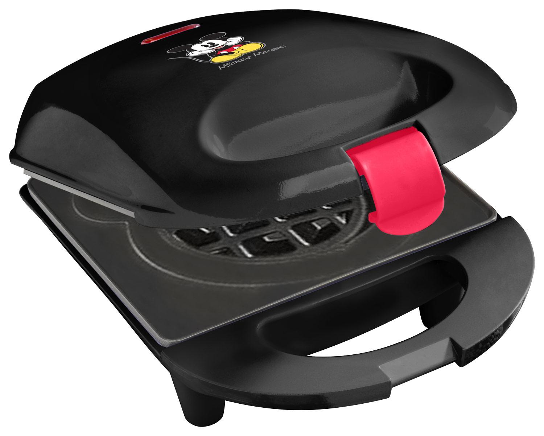 Disney - Classic Mickey Mouse Mini Waffle Maker - Black