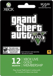Microsoft - Xbox Live 12 Month Gold Membership - Grand Theft Auto V