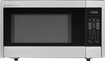 Sharp - 1.1 Cu. Ft. Mid-Size Microwave - Stainless-Steel