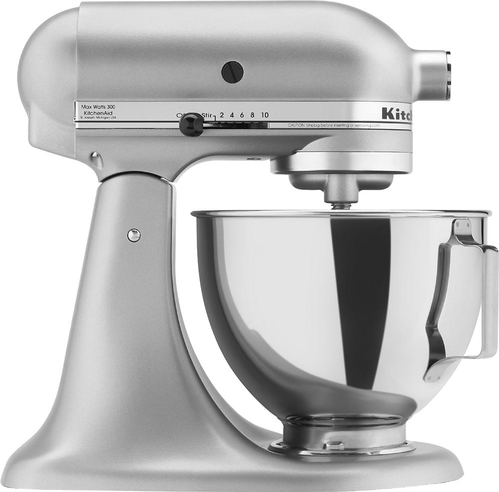 KitchenAid - Tilt-Head Stand Mixer - Silver Metallic