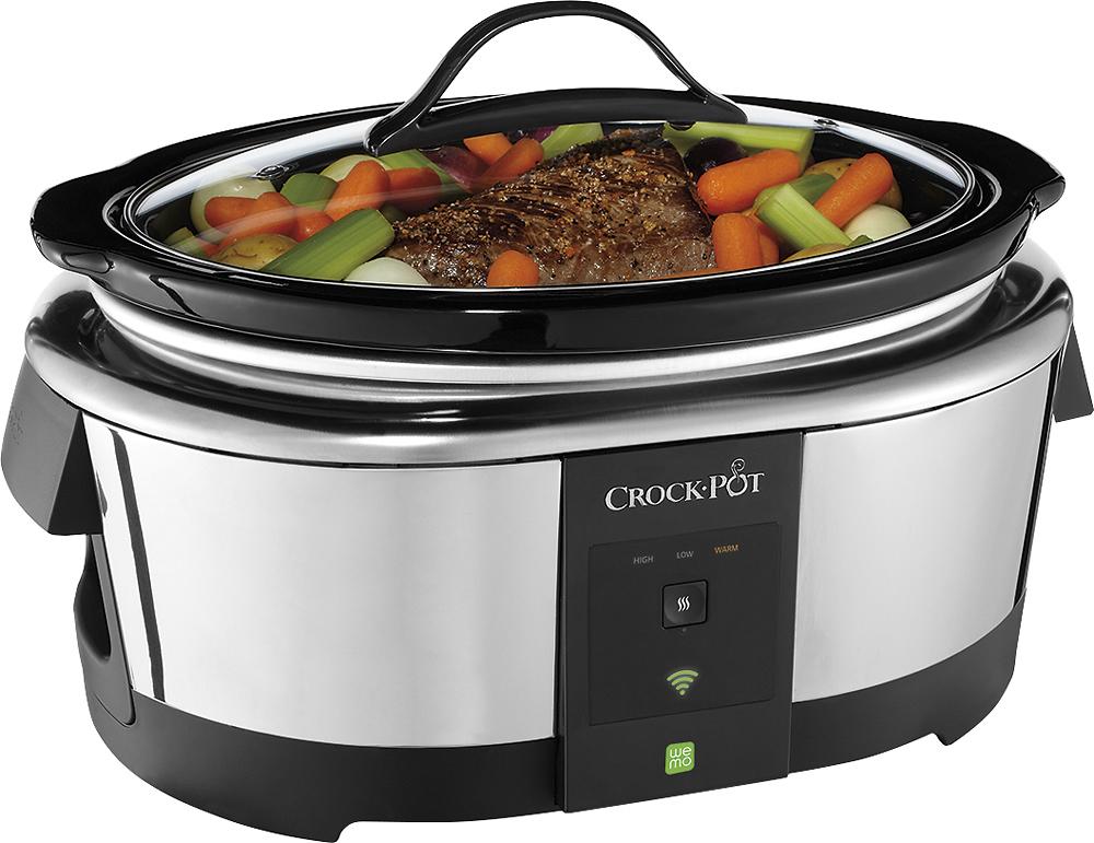 Crock Pot - 6-Quart Smart Slow Cooker - Silver
