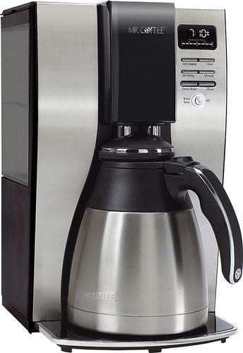 Mr. Coffee - 10-Cup Coffeemaker - Black/Stainless-Steel