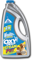 Bissell - 32 oz. Woolite Oxy Deep Pet 2X Concentrated Steam Machine Formula - Blue/Yellow