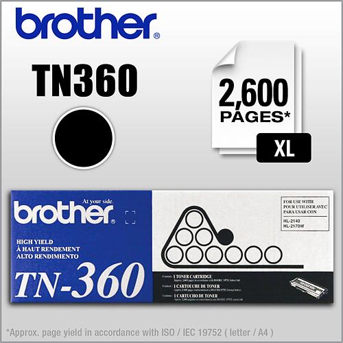 Brother - TN360 XL High-Yield Toner Cartridge - Black