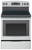 "GE - 30"" Self-Cleaning Freestanding Electric Range - Stainless-Steel/Gray"