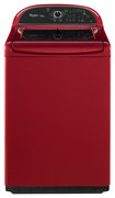 Whirlpool - Cabrio Platinum 4.8 Cu. Ft. 13-cycle High-efficiency Top-loading Washer - Cranberry Red