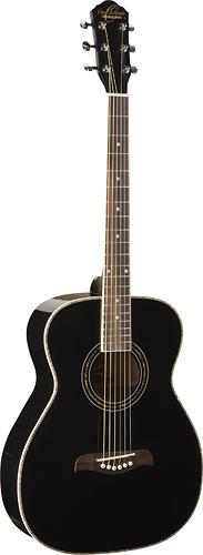Oscar Schmidt - 6-String Folk Acoustic Guitar - Black