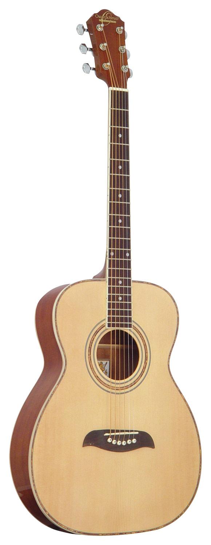 Oscar Schmidt - 6-String Folk Acoustic Guitar - Natural