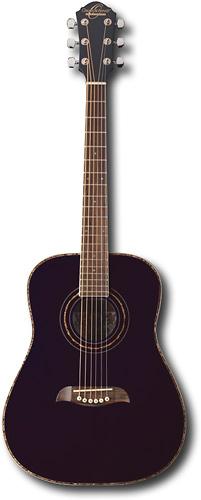 Oscar Schmidt - 6-String Half-Size Dreadnought Acoustic Guitar - Black