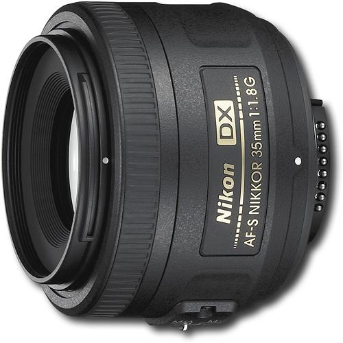 Nikon - AF-S DX NIKKOR 35mm f/1.8G Standard Lens - Black