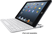 Belkin - Bluetooth Keyboard Case for Apple® iPad® mini - White/Silver