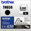Brother - Toner Cartridge TN650 High-Yield Toner, 8000 Page-Yield - Black