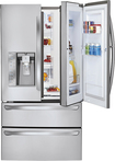 LG - Door-in-Door 30.3 Cu. Ft. 4-Door French Door Refrigerator with Thru-the-Door Ice and Water - Stainless-Steel