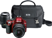 Nikon - D3200 DSLR Camera with 18-55mm and 55-200mm Lenses - Red