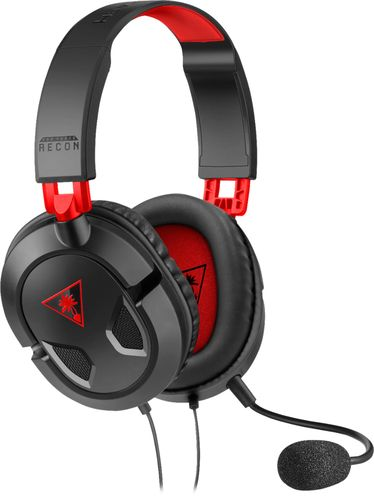 Turtle Beach - EAR Force Recon 50 Over-the-Ear Gaming Headset - Black/Red
