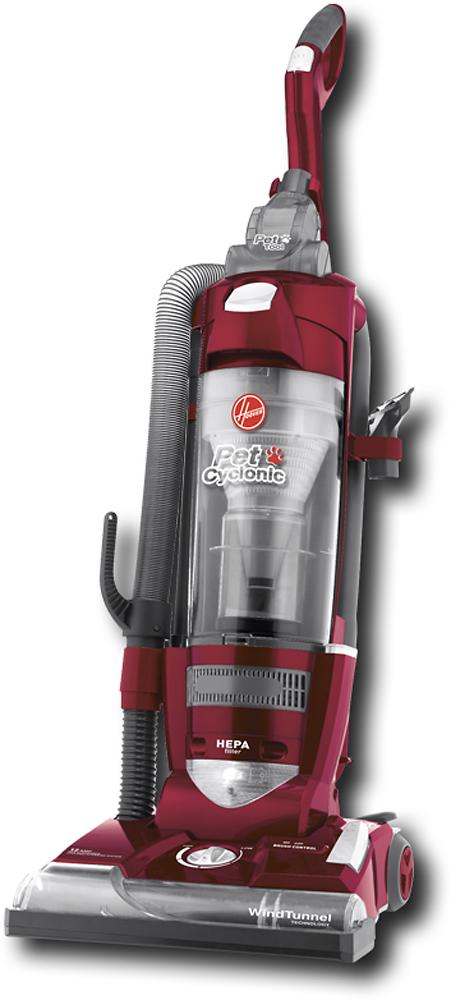 Hoover - Pet Cyclonic HEPA Bagless Upright Vacuum - Maroon