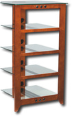 Sanus - Natural Foundations A/V Series 5-Shelf System - Cherry