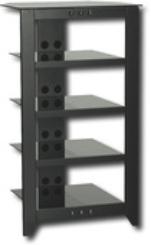Sanus - Natural Foundations A/V Series 5-Shelf System - Black