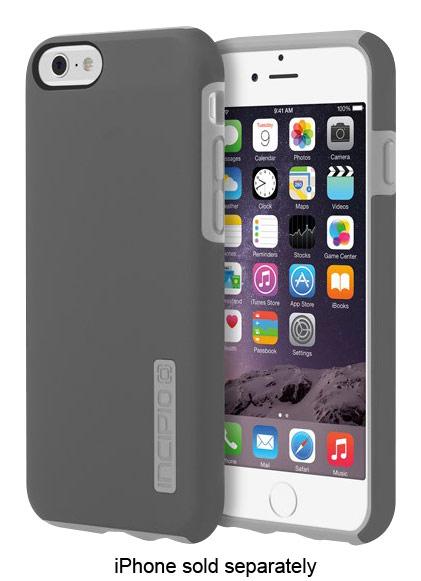 Incipio - DualPro Case for Apple® iPhone® 6 - Dark Gray/Light Gray