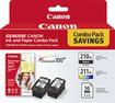 Canon - 210XL/211XL High-Yield Ink Cartridge + Photo Paper - Multi