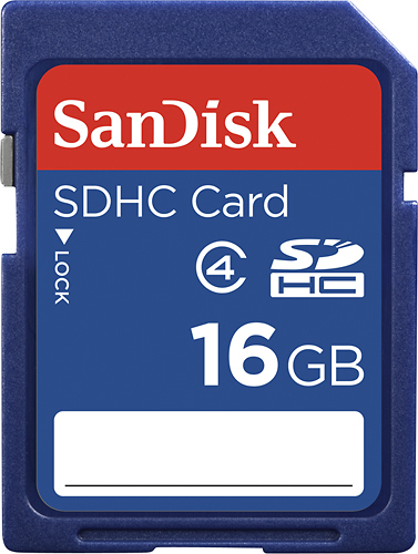 SanDisk - 16GB SDHC Memory Card - Blue