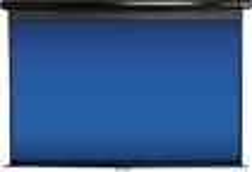 "Elite Screens - Manual Series 92"" Pull-Down Projector Screen - Black"