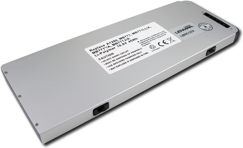 Lenmar - Lithium-Polymer Battery for Select Apple® MacBook® Laptops - Gray