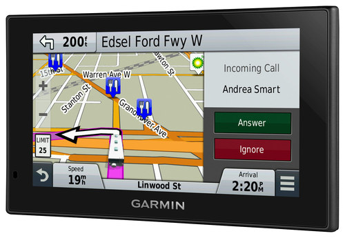 Garmin Rv Lmt  Gps With Built In Bluetooth Lifetime Map Updates And Lifetime Traffic Updates Black  Best Buy